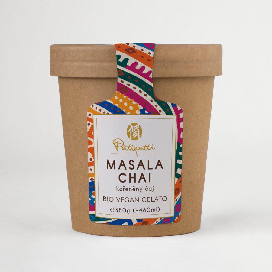 Patipatti Organic Vegan Masala Chai Gelato - Tub