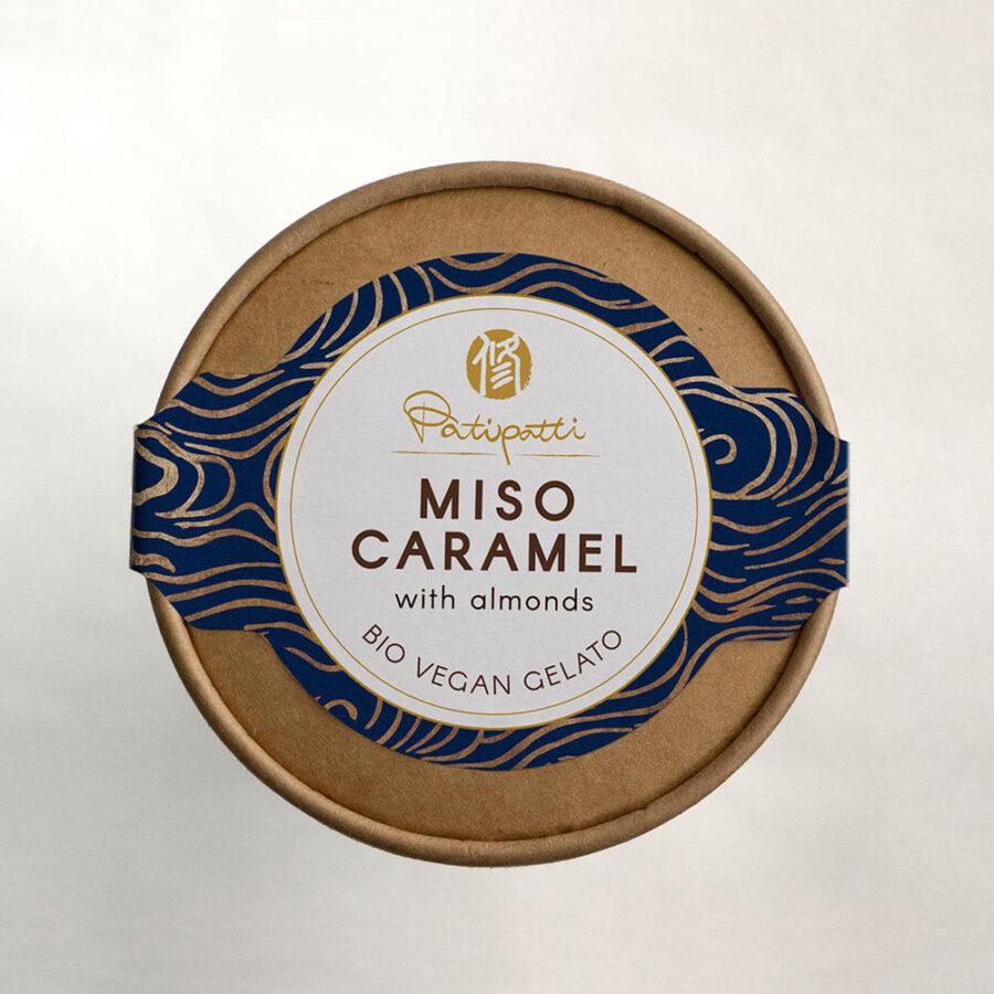 Patipatti Organic Vegan Miso Caramel Gelato - Top