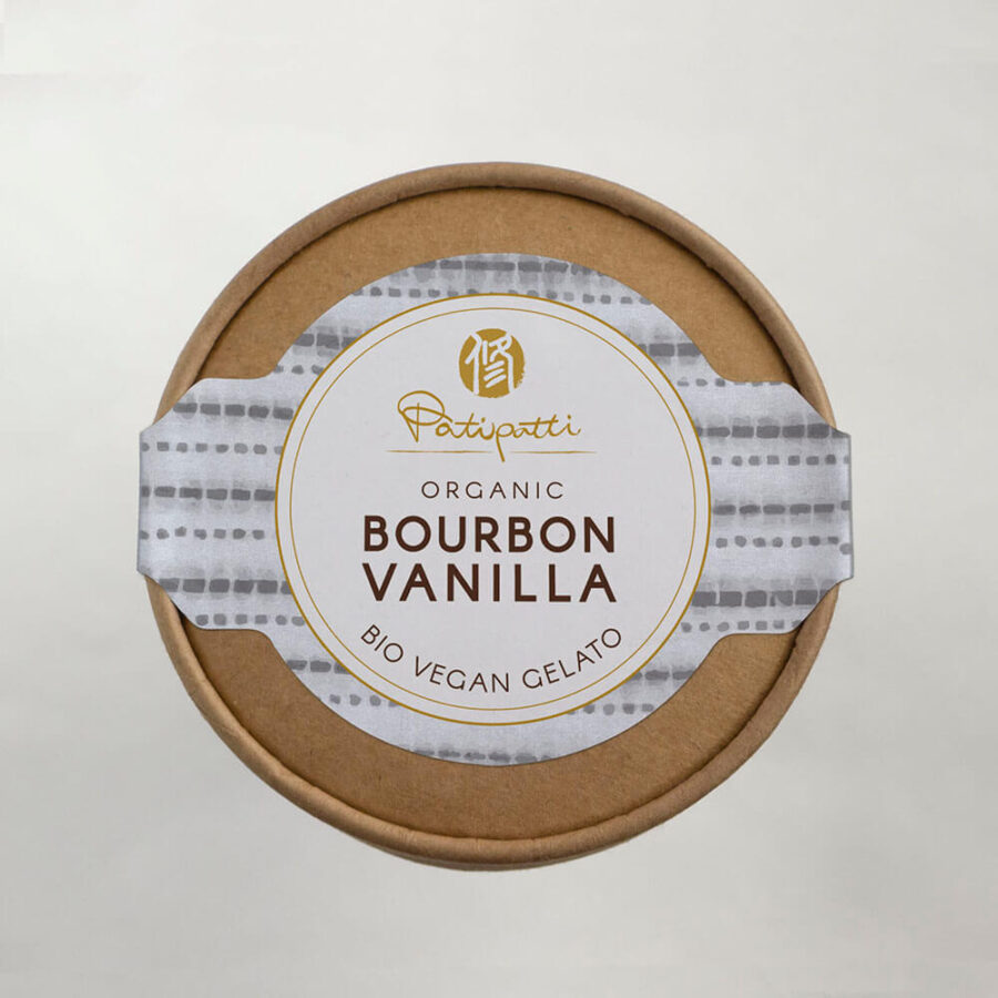 Patipatti Organic Vegan Bourbon Vanilla Gelato - Top