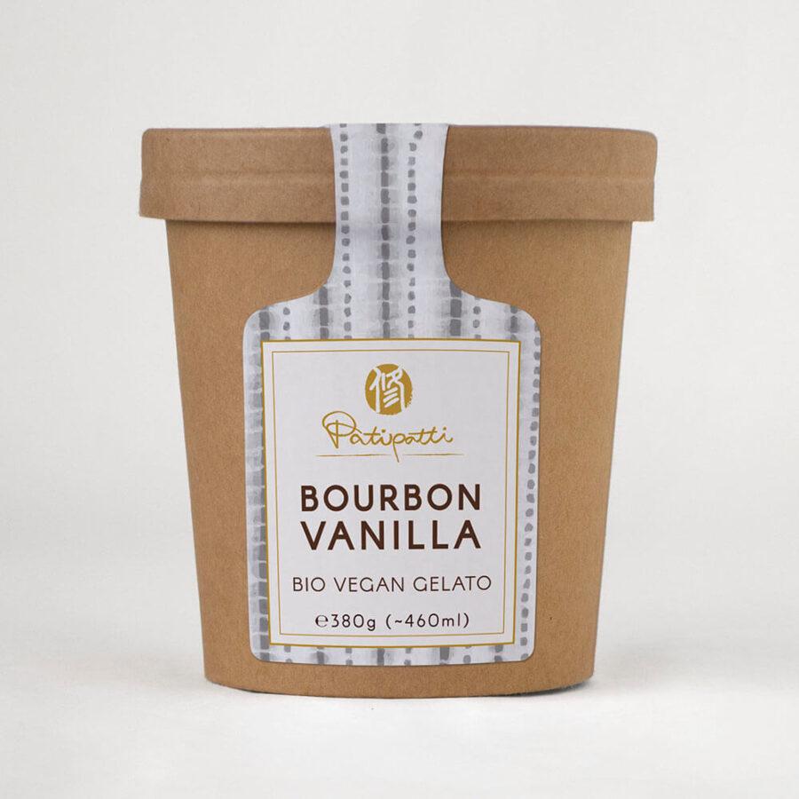 Patipatti Organic Vegan Bourbon Vanilla Gelato - Tub