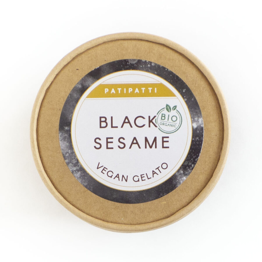 Patipatti Organic Vegan Black Sesame Gelato - Lid