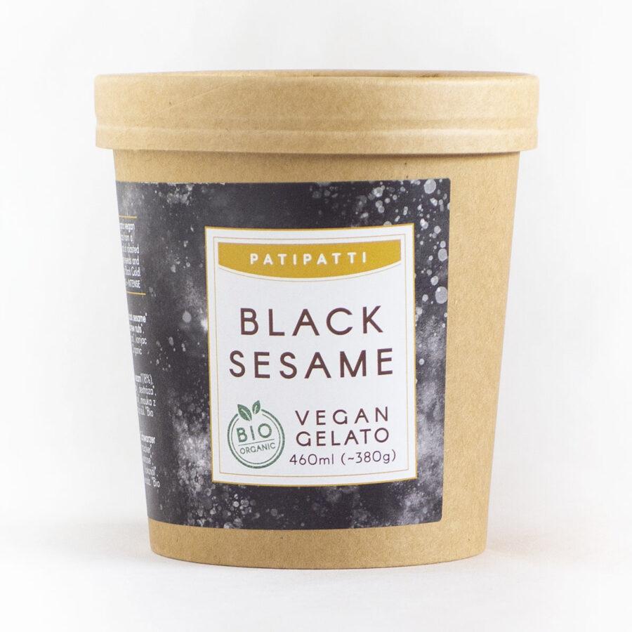 Patipatti Organic Vegan Black Sesame Gelato - Tub