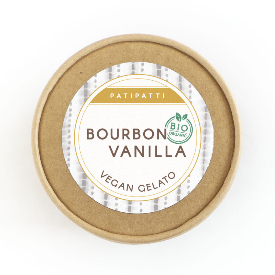 Patipatti Organic Vegan Bourbon Vanilla Gelato - Lid