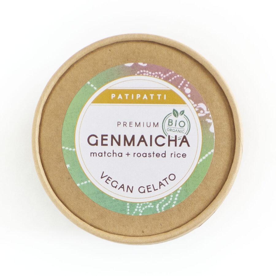 Patipatti Organic Vegan Genmaicha Gelato - Lid