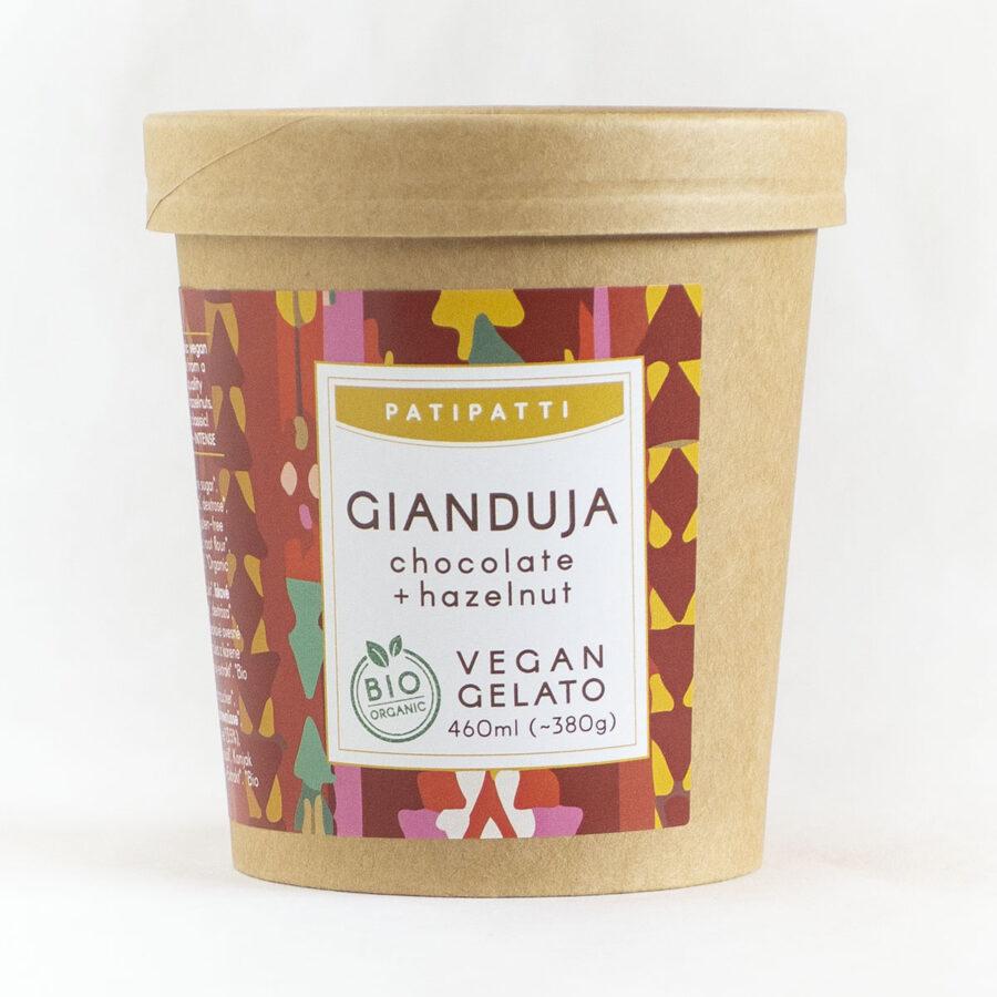 Patipatti Organic Vegan Gianduja Gelato - Tub