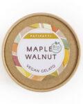 Patipatti Organic Vegan Maple Walnut Gelato - Lid