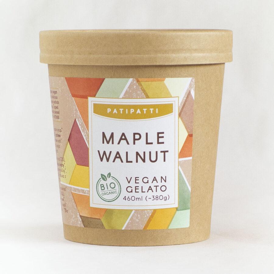 Patipatti Organic Vegan Maple Walnut Gelato - Tub