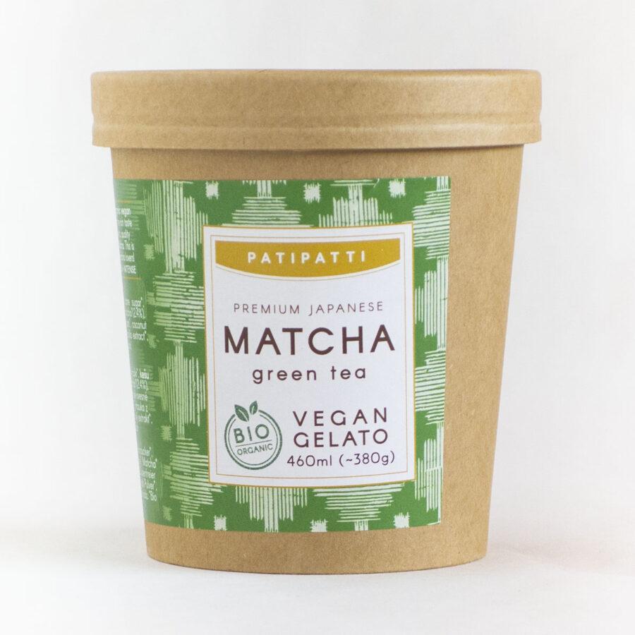 Patipatti Organic Vegan Matcha Gelato - Tub