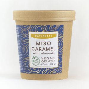 Patipatti Organic Vegan Miso Caramel Gelato - Tub