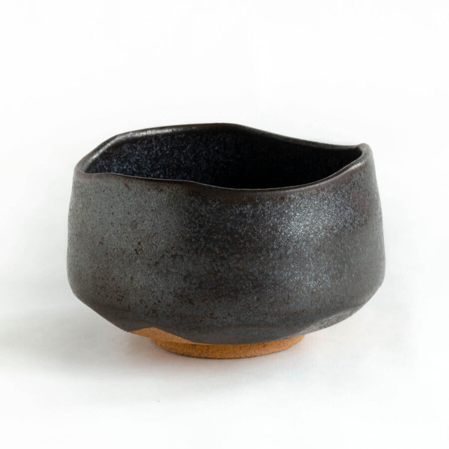 Black Pearl Chawan - Black Matcha Bowl - Patipatti