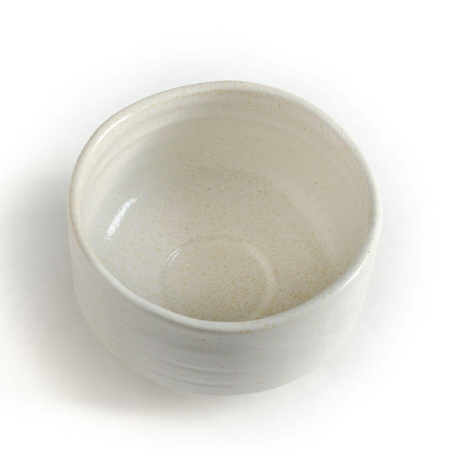 matcha chawan dove white