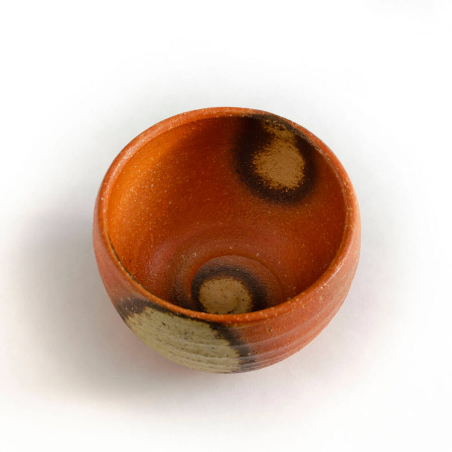 Tangerine Ippukuwan - Small Chawan Matcha Bowl - Patipatti