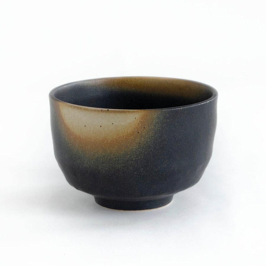 Nodate chawan - Mini matcha bowl in black - Patipatti