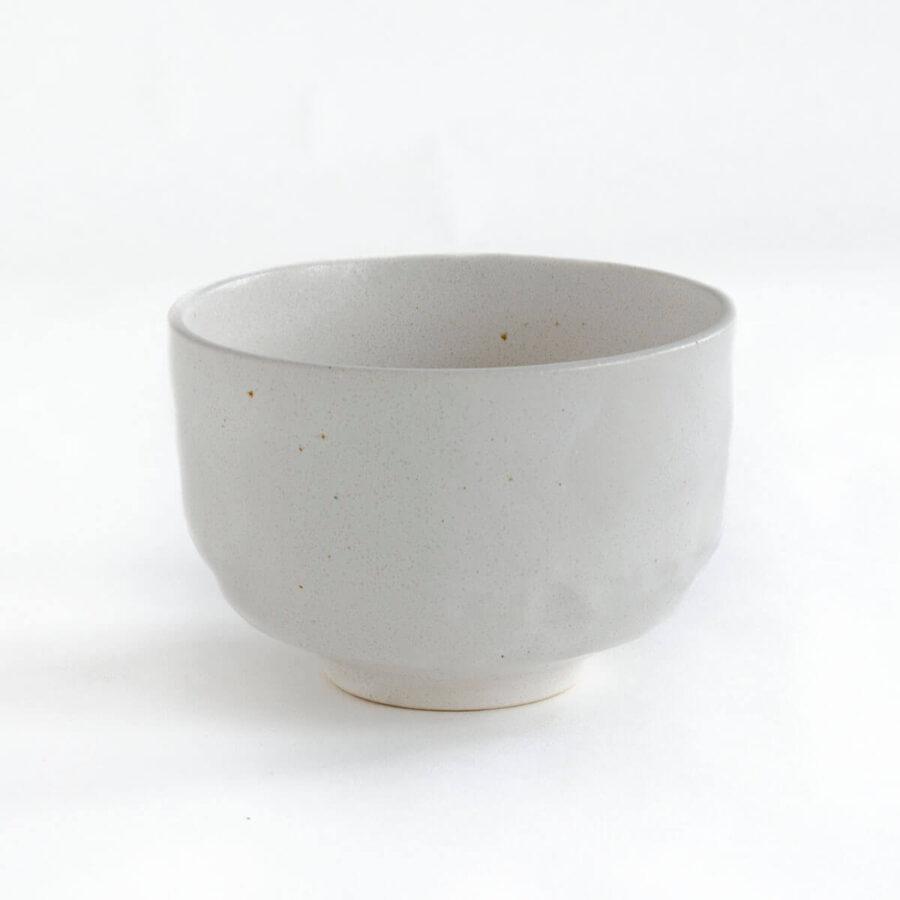 Nodate chawan - Mini matcha bowl in white - Patipatti