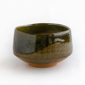 River Moss green chawan - handmade matcha bowl from Japan - Patipatti