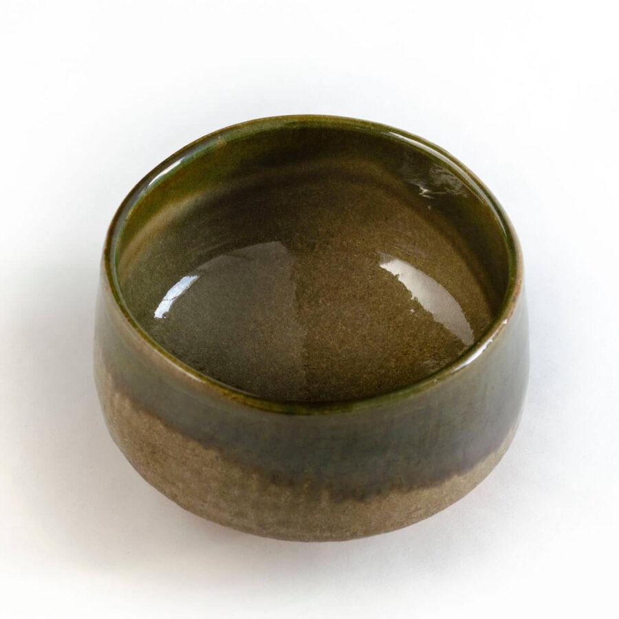 River Moss green chawan - handmade matcha bowl from Japan - Patipatti