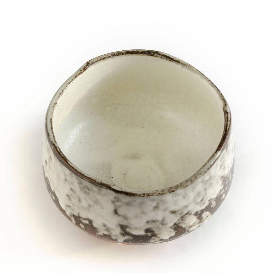 snowfall chawan - white matcha bowl
