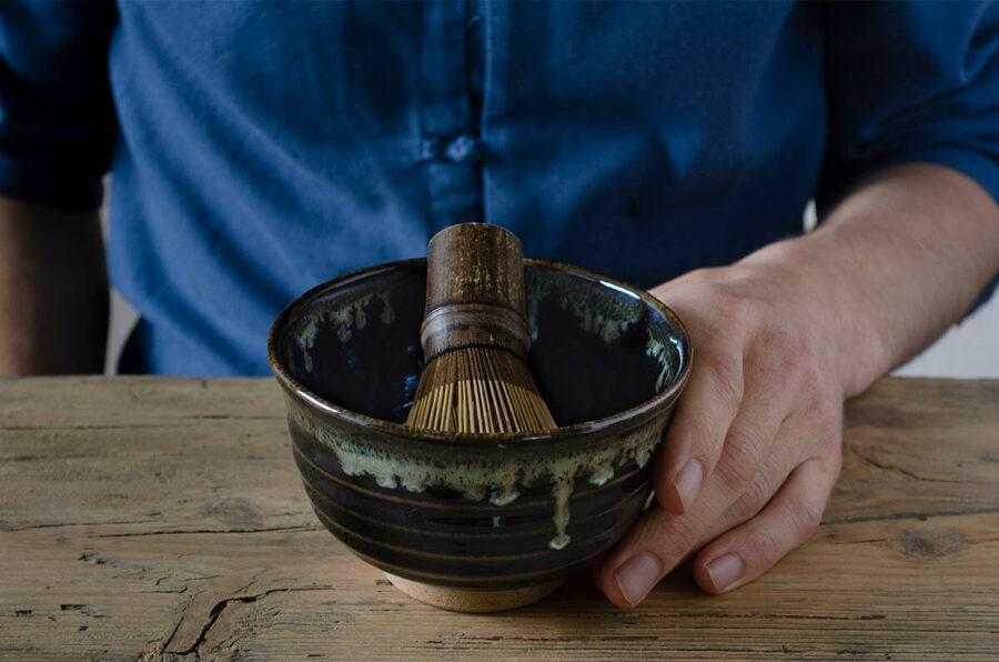 tenmoku chawan - black matcha bowl