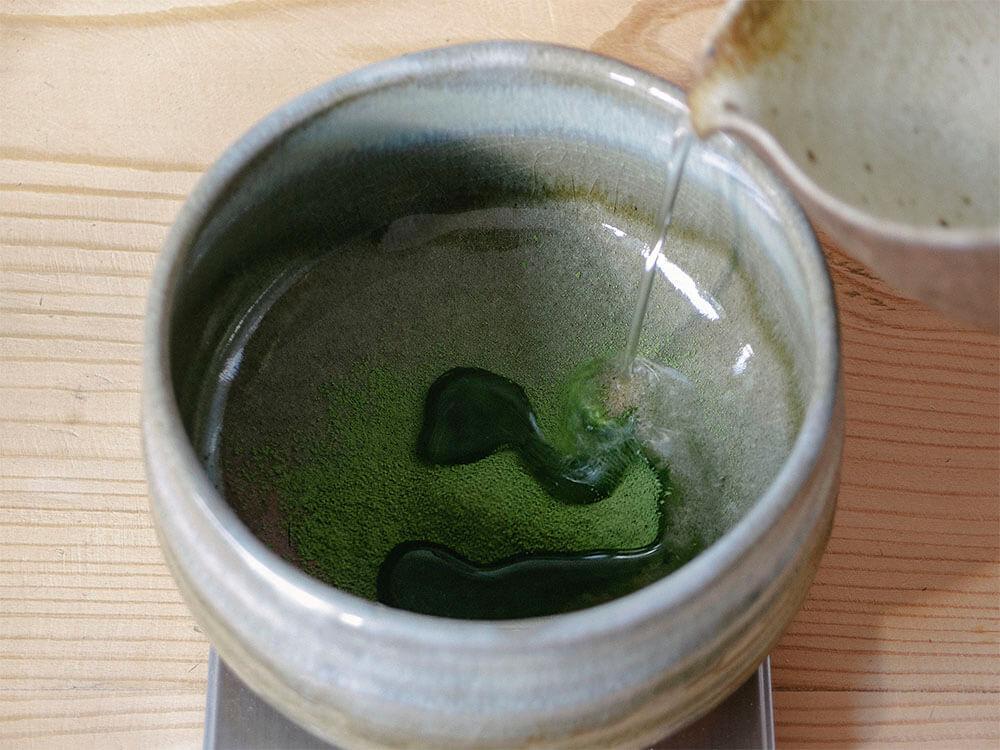 Tea latte - matcha, hojicha, genmaicha