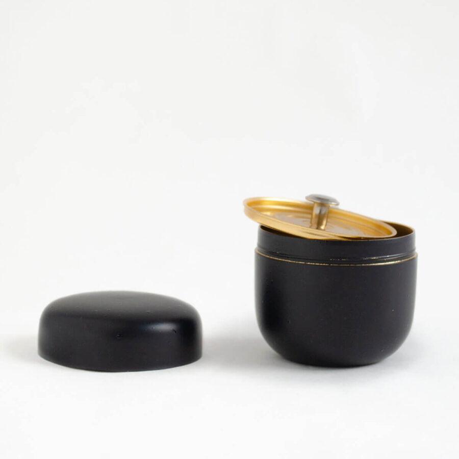 Black Mini Natsume Tea Can - Patipatti