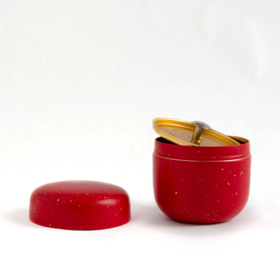 Red Mini Natsume Tea Can - Patipatti