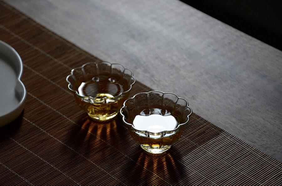 Patipatti Glass Teacup - Flower