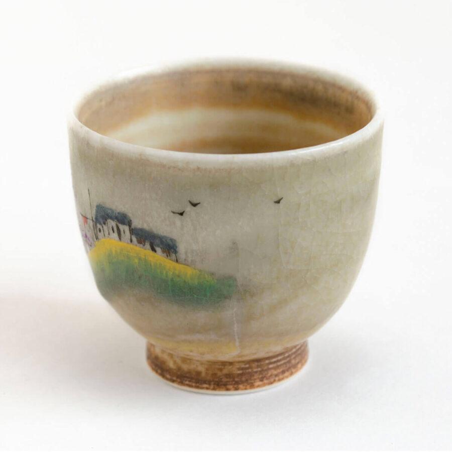 Patipatti Handmade Teacup - Handpainted Pastoral Scene - Idyll Village