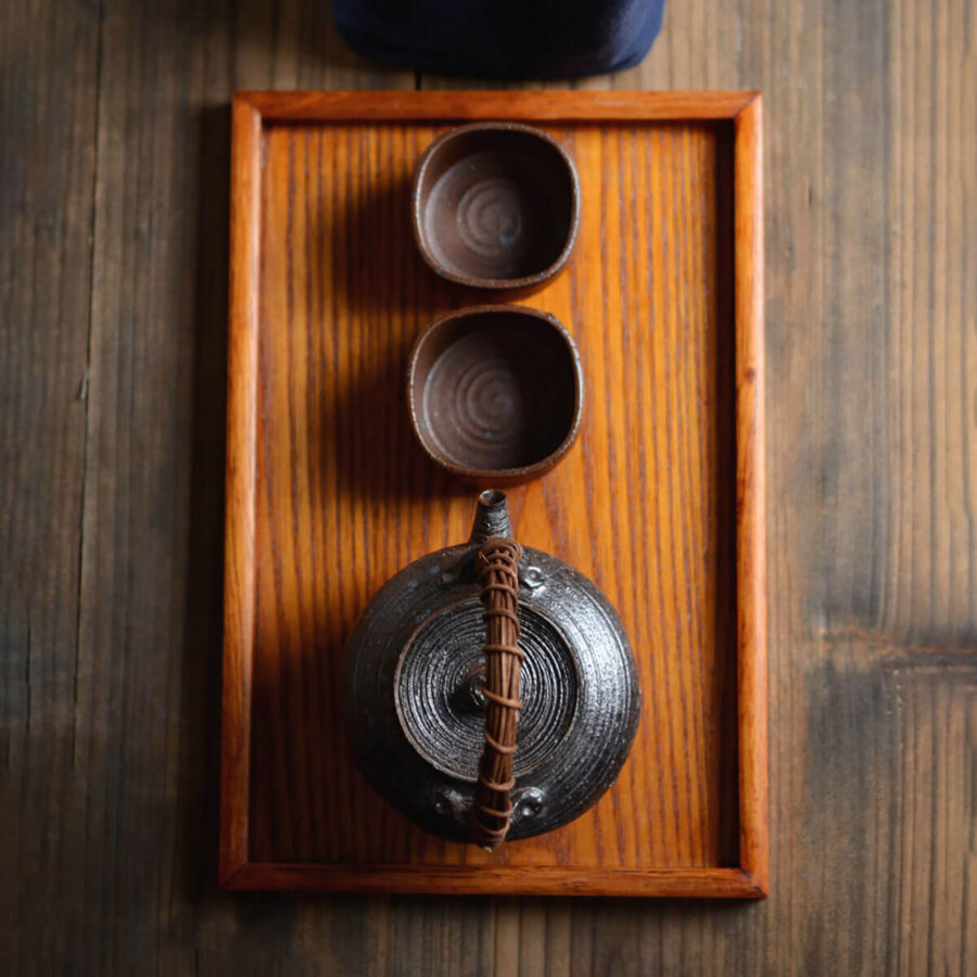 Patipatti Handmade Teacup - Rough Clay Squarish