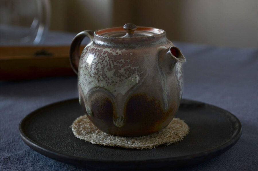 Patipatti Handmade Teapot - Mint Speckled