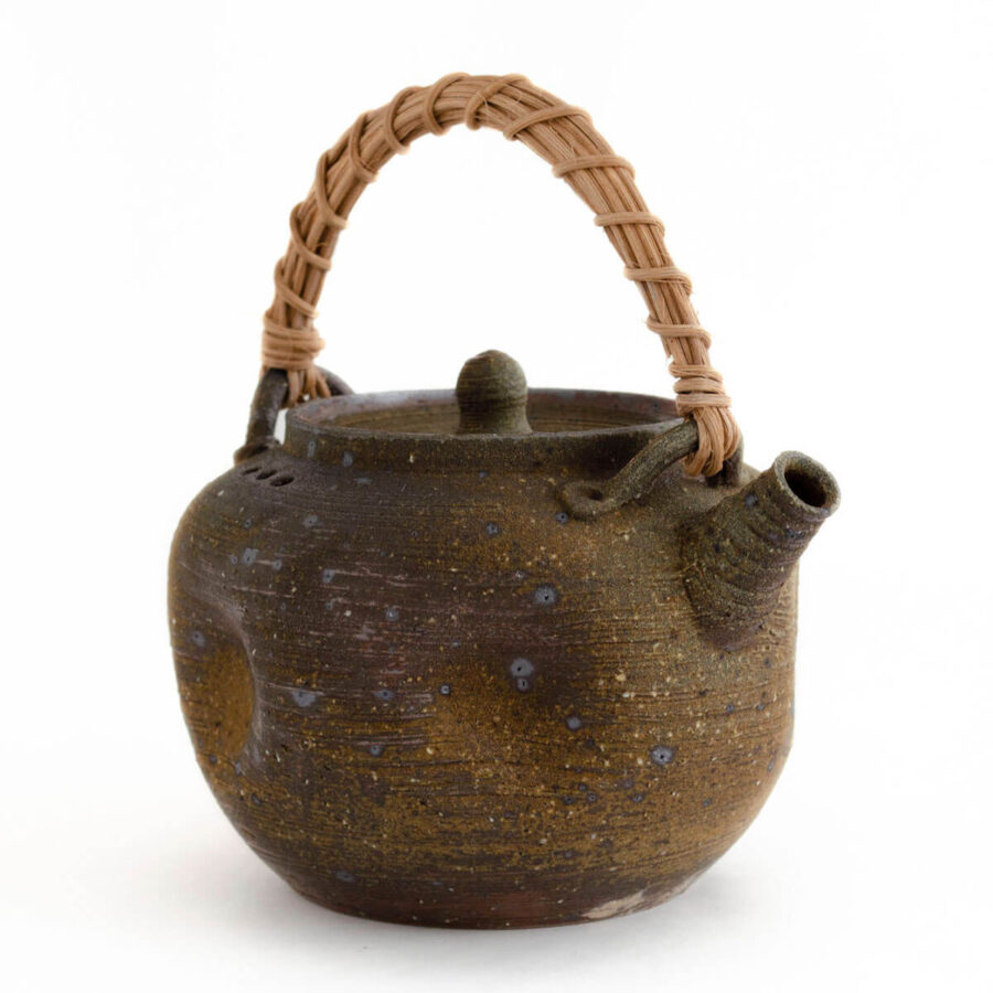 Patipatti Handmade Teapot - Rough Clay Dimpled