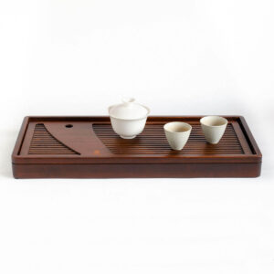 Patipatti Bamboo Tea Tray - Zither – Large reservoir or draining tube