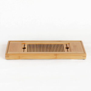 Patipatti Bamboo Tea Tray with Reservoir - Picket Rectangle