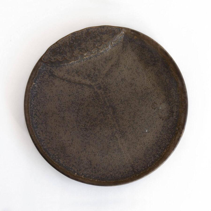 Patipatti Ceramic Tea Tray - Bronze Lotus