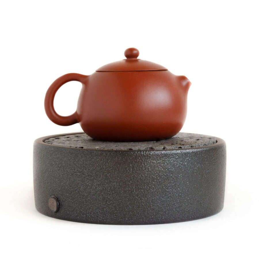 Patipatti Ceramic Tea Tray with Reservoir - Pumice Black