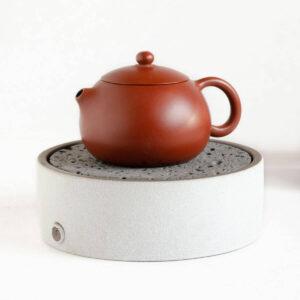 Patipatti Ceramic Tea Tray with Reservoir - Pumice White