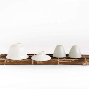 Patipatti Bamboo Tea Tray - Rustic Dark Reed