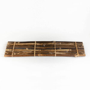 Patipatti Bamboo Tea Tray - Rustic Dark Reed